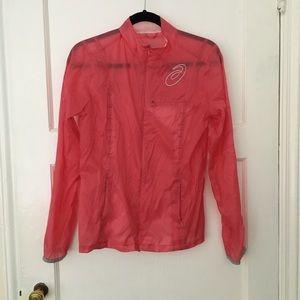 ASICS pink running rain jacket waterproof shell